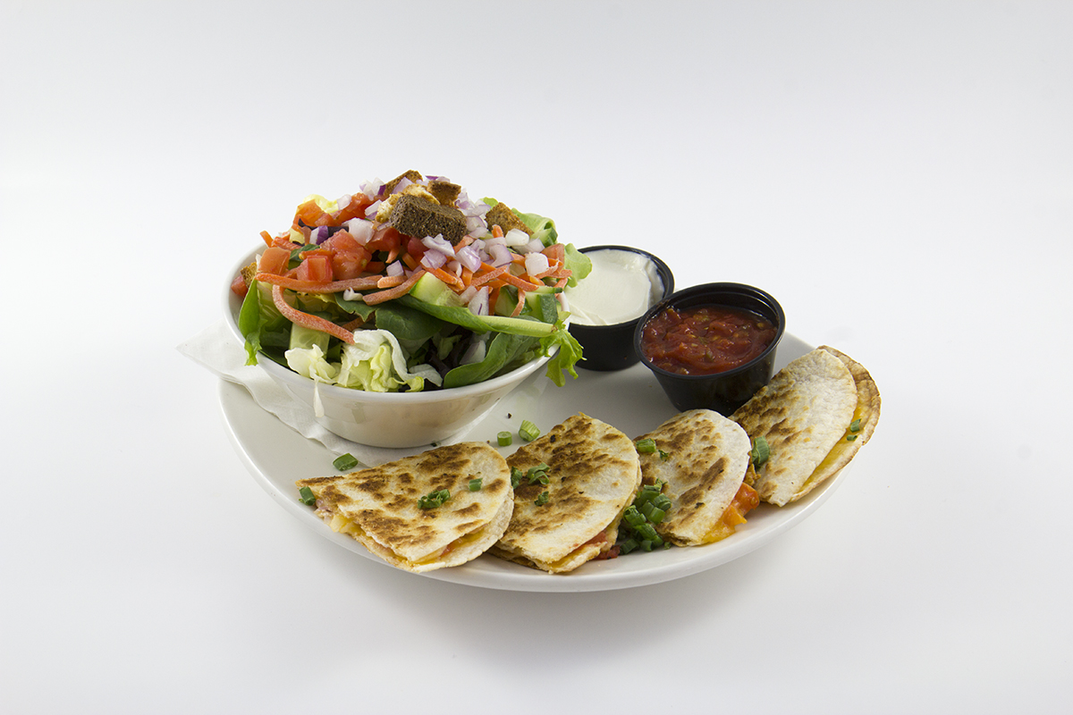 St.Louis Menu: 1/2 Quesadilla and Salad