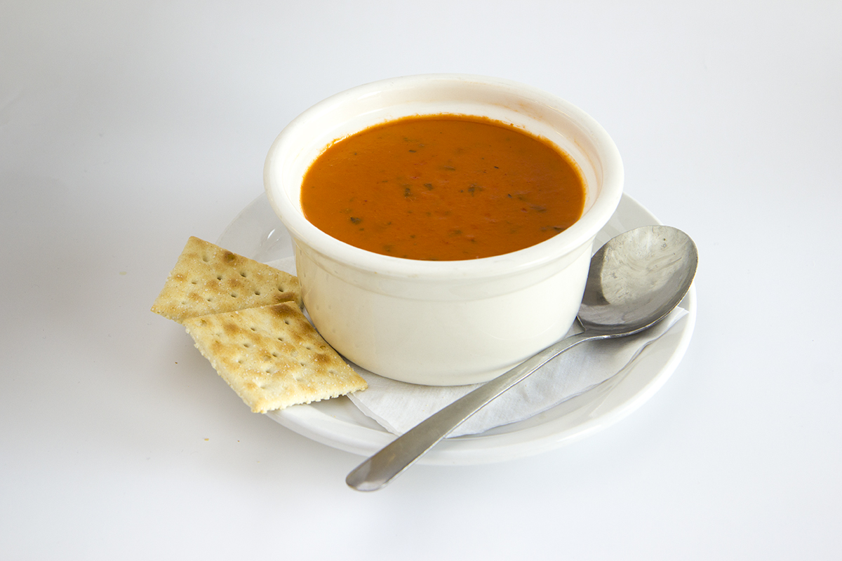 St.Louis Menu: Tomato Bisque with Basil